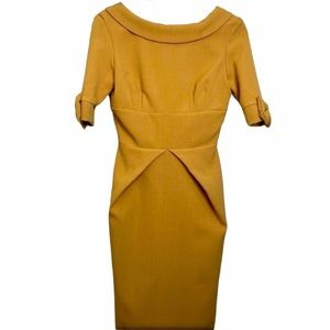 hP] GOLDEN YELLOW MIDI DRESS